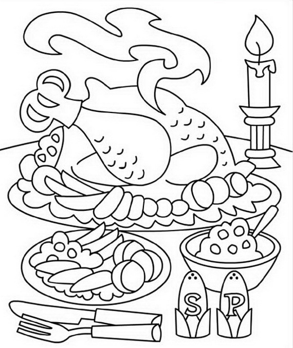 Free Coloring Sheets for Thanksgiving