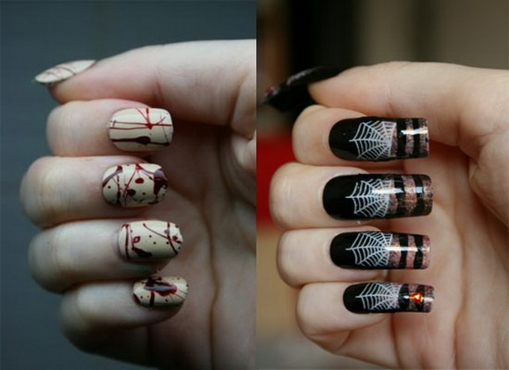 50 simple easy spooky scary halloween nail art designs ideas related posts best spring nail manicure trends ideas prinsesfo Gallery
