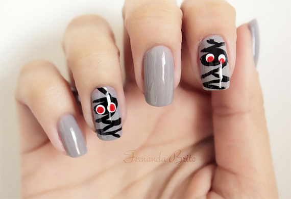 50 simple easy spooky scary halloween nail art designs ideas 2012 50 simple easy spooky scary halloween nail art designs ideas 2012