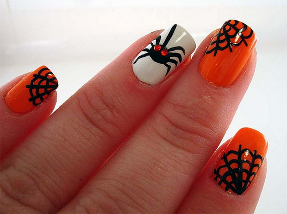 50 simple easy spooky scary halloween nail art designs ideas related posts prinsesfo Image collections