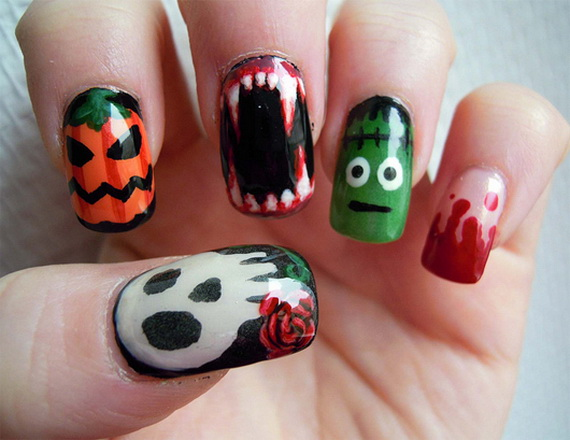 50 Simple, Easy, Spooky & Scary Halloween Nail Art Designs, Ideas 2012 ...
