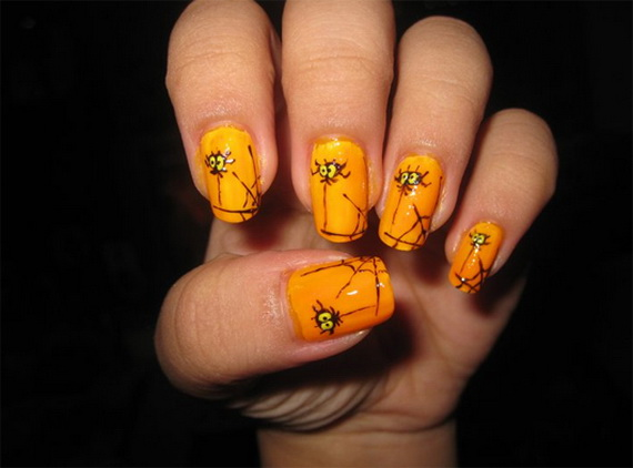50 simple easy spooky scary halloween nail art designs ideas related posts prinsesfo Choice Image