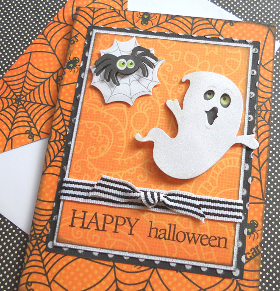IDEAS FOR MAKING ELEGANT HOMEMADE HALLOWEEN CARDS -