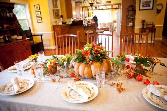 Thanksgiving Floral Centerpiece Ideas Family