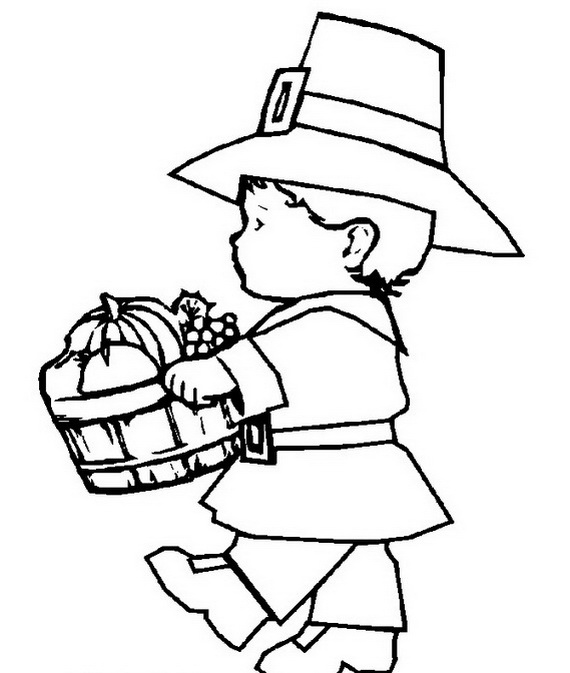 Thanksgiving Dinner Coloring Pages - GetColoringPages.com | 673x570