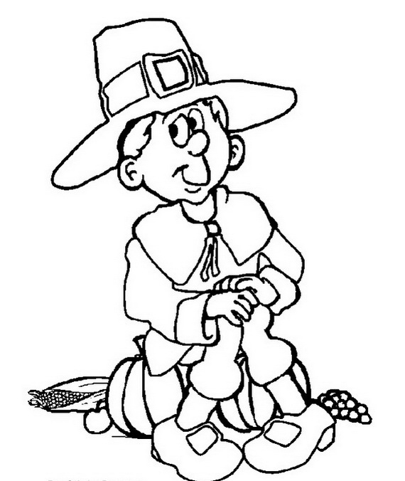 Thanksgiving Coloring Pages For Kids Family Holiday Net Guide To