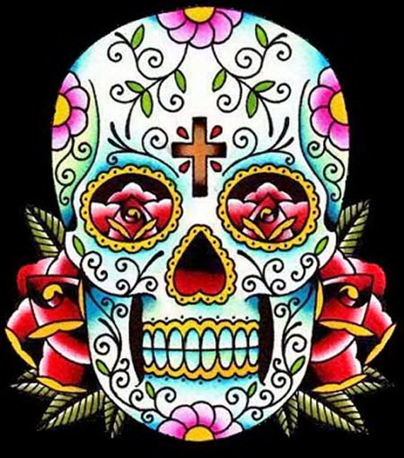 Sugar Skull Tattoos for Halloween /Day of the Dead - family holiday ...