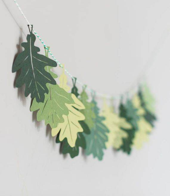 oak-leaf-papercut-garland