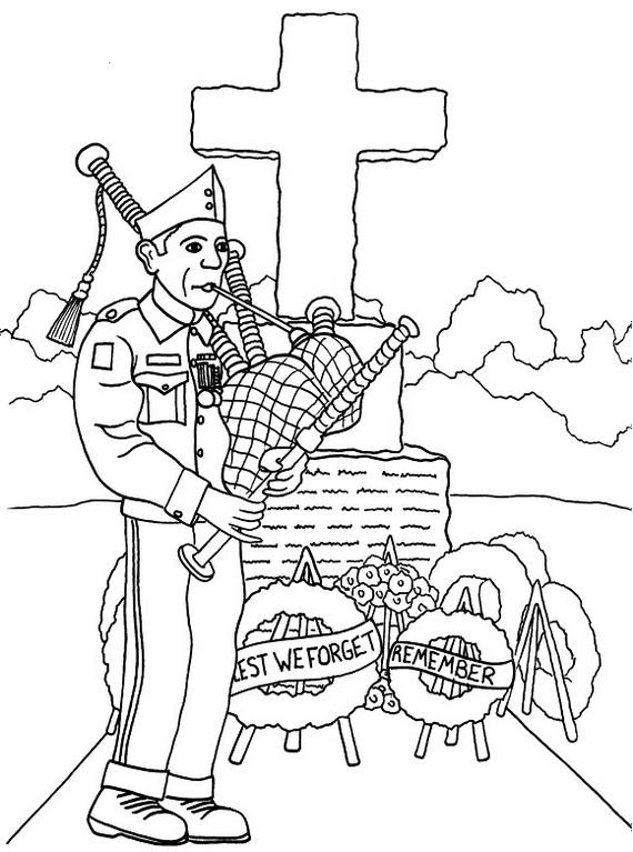 Add Fun Veterans Day Coloring