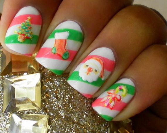 Best Cute Amazing Christmas Nail Art Designs Ideas Pictures