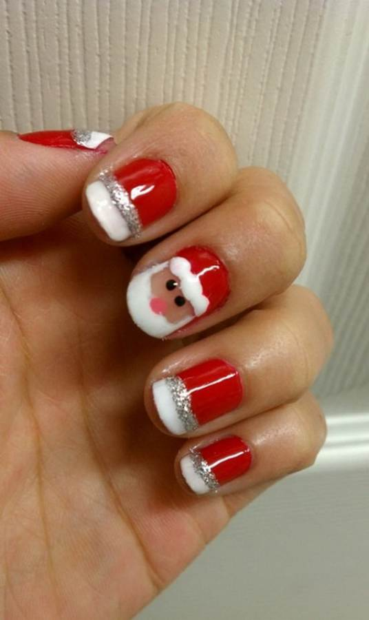 Best, Easy & Simple Christmas Nail Art designs & Ideas - family ...