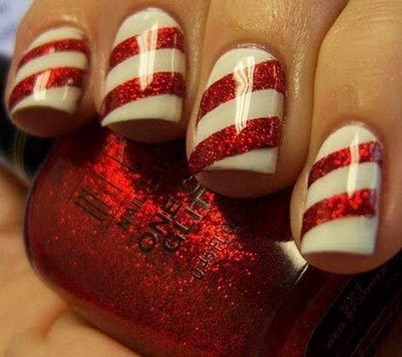 best easy simple christmas nail art designs ideas_09