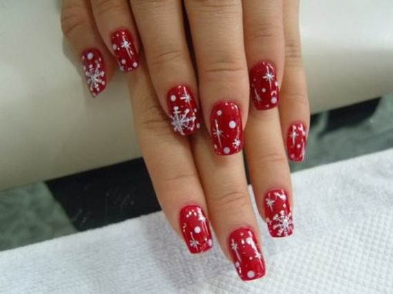 Best-Easy-Simple-Christmas-Nail-Art-designs-Ideas_14 - Best, Easy & Simple Christmas Nail Art Designs & Ideas - Family