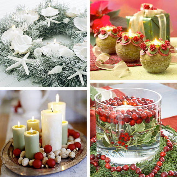 Creative candle decorating ideas for christmas family Creative christmas decorations