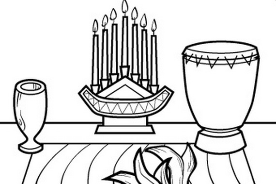 December Holiday Kwanzaa coloring pages - family holiday.net/guide ...