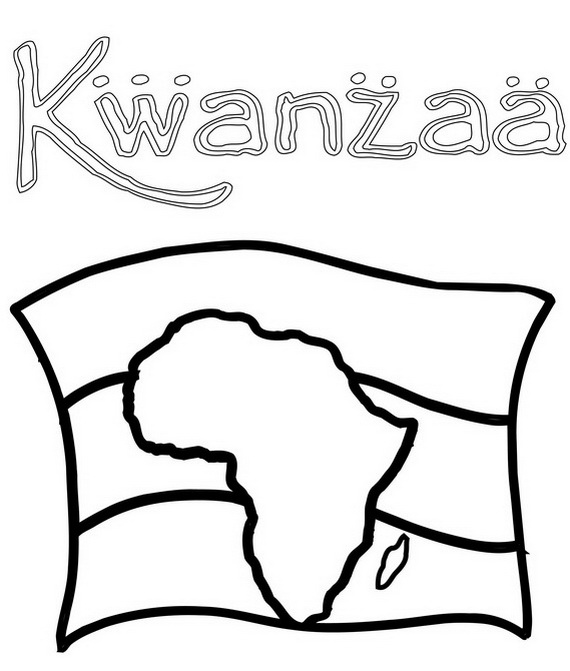 December Holiday Kwanzaa coloring pages - family holiday ...