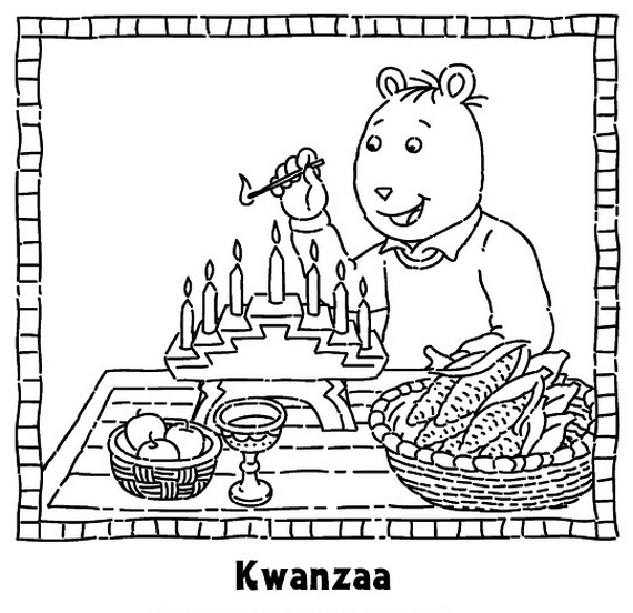 Quanza coloring pages ~ December Holiday Kwanzaa coloring pages - family holiday ...
