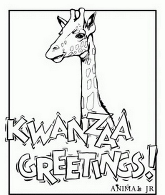 December Holiday Kwanzaa Coloring Pages Family Holiday Kwanzaa Coloring Page
