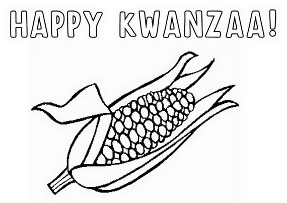 happy kwanzaa coloring pages - photo#34