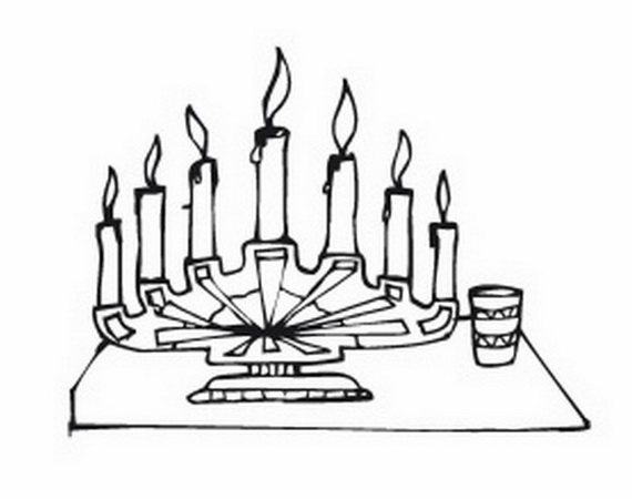 December Holiday Kwanzaa coloring pages family holidaynetguide