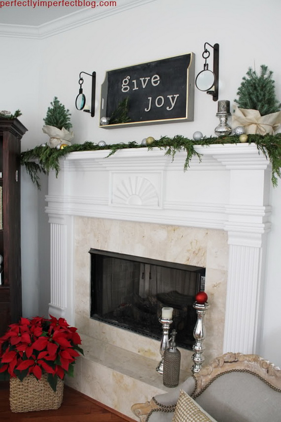 Decorate A Mantel With A Holiday Centerpiece Family