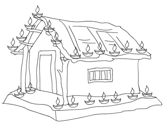 my village pictures coloring pages - photo#14