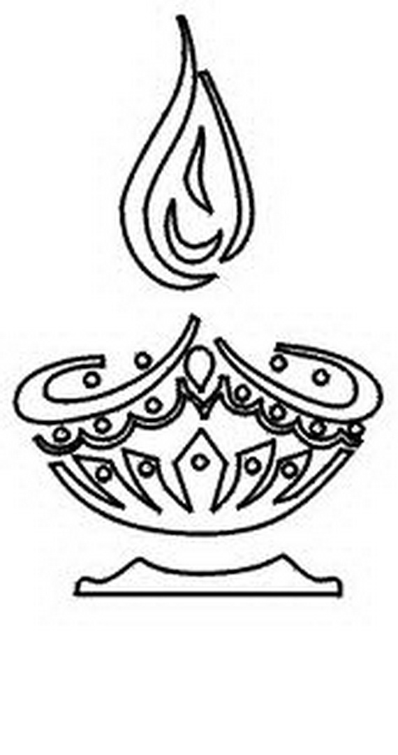 coloring pages of diwali scenes - photo#34