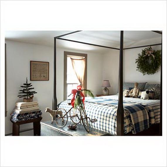 Elegant Interior Theme Christmas Bedroom Decorating Ideas_05