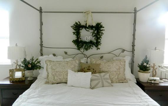 Elegant Interior Theme Christmas Bedroom Decorating Ideas_06