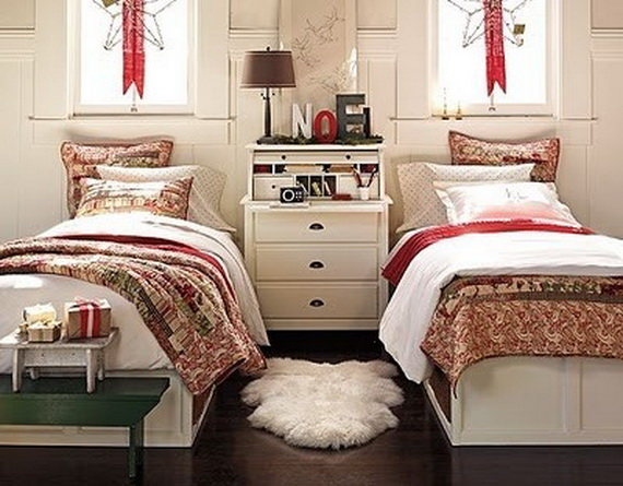 source pinterest - Christmas Bedroom Decor Ideas