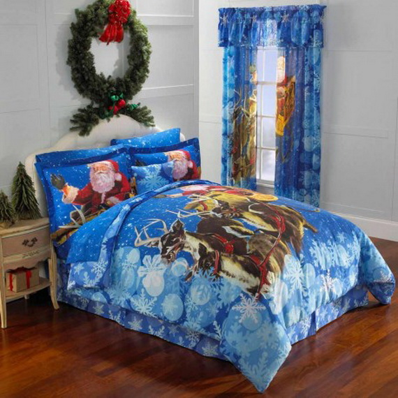 elegant interior theme christmas bedroom decorating ideas - family