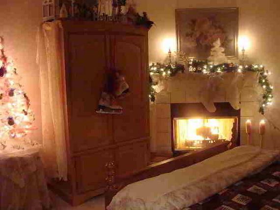 Decorating Theme Bedrooms: Elegant Interior Theme Christmas Bedroom Decorating Ideas