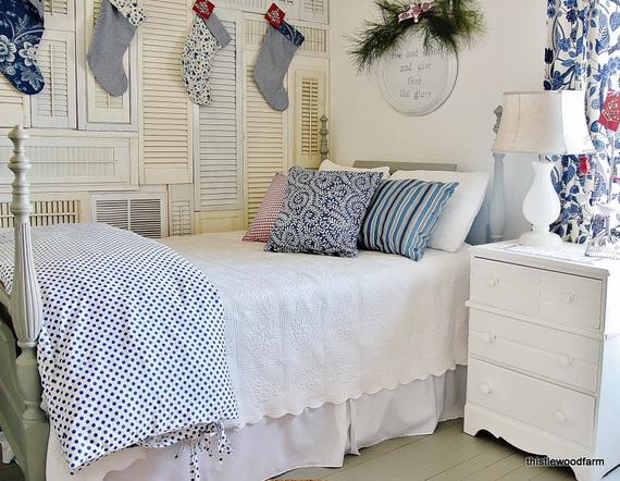 Elegant Interior Theme Christmas Bedroom Decorating Ideas_39