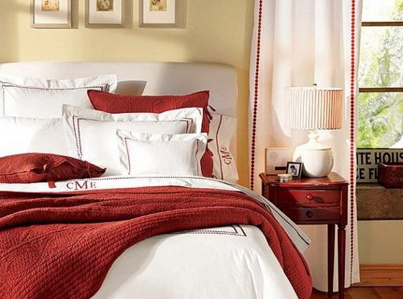 surprising christmas bedroom decorations ideas | Elegant Interior Theme Christmas Bedroom Decorating Ideas ...