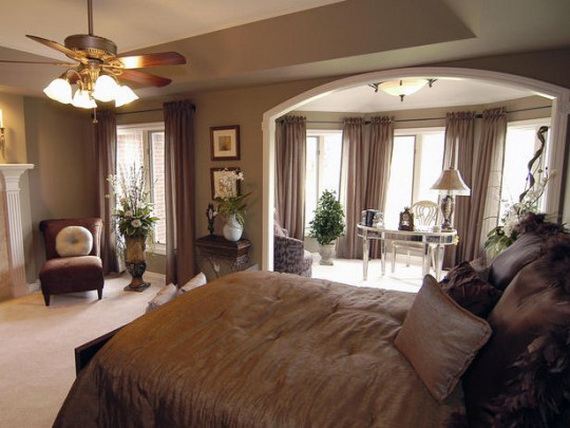 Elegant Interior Theme Christmas Bedroom Decorating Ideas_42