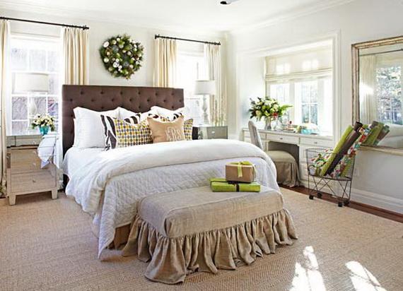 Elegant Interior Theme Christmas Bedroom Decorating Ideas Family