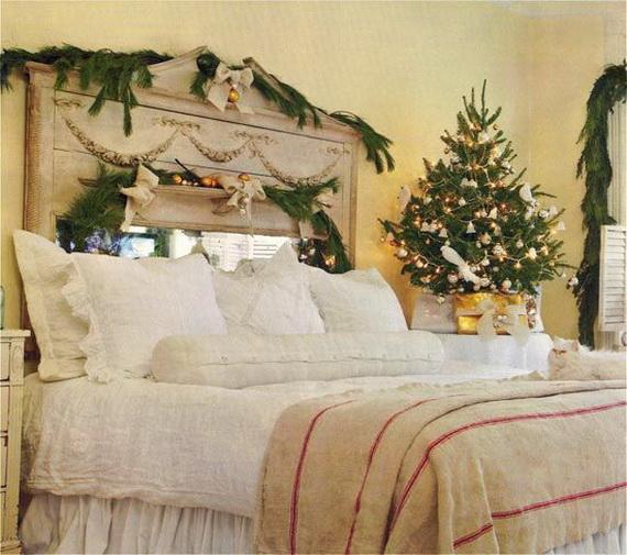 Elegant Interior Theme Christmas Bedroom Decorating Ideas_63