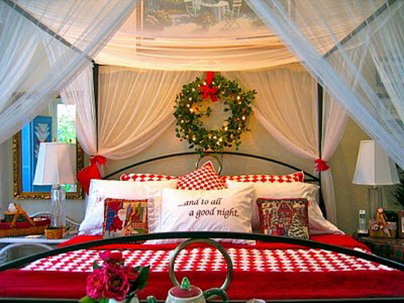 interior theme christmas bedroom decorating ideas family holiday