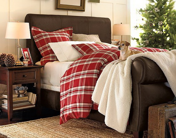 Elegant Interior Theme Christmas Bedroom Decorating Ideas_70