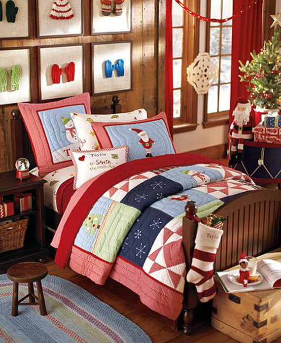 Elegant Interior Theme Christmas Bedroom Decorating Ideas_71