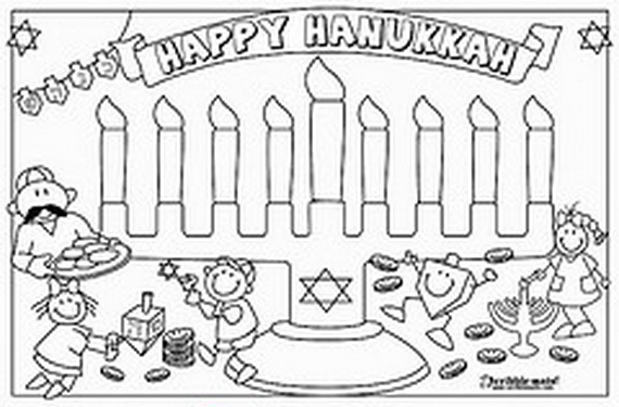 hanukkah coloring pages printable - photo#30