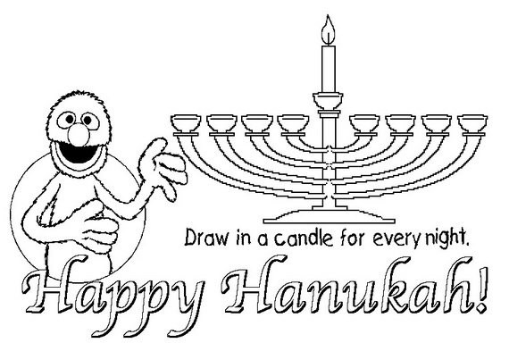 Hanukkah Coloring Pages: Menorahs - family holiday.net/guide to ...