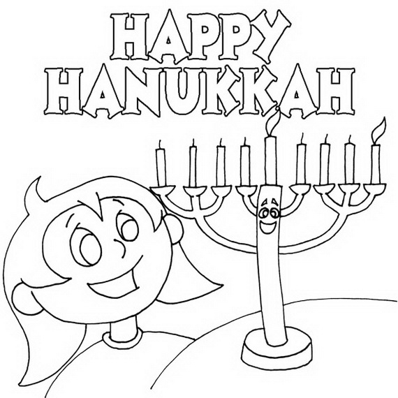 hanukkah coloring pages printable - photo#36