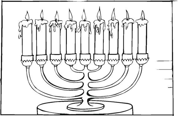 hanukkah coloring pages  menorahs