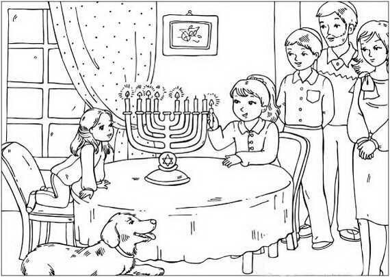 early childhood jewish coloring pages - photo#35