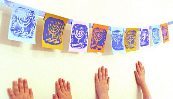 Happy Hanukkah Banner Sign Garland Decoration Ideas - family ...