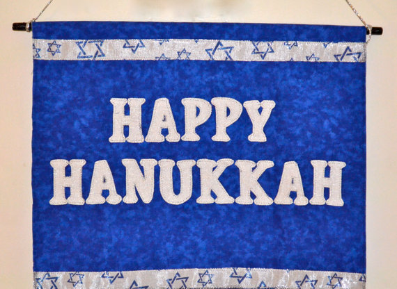 Happy Hanukkah Banner Sign Garland Decoration Ideas ...