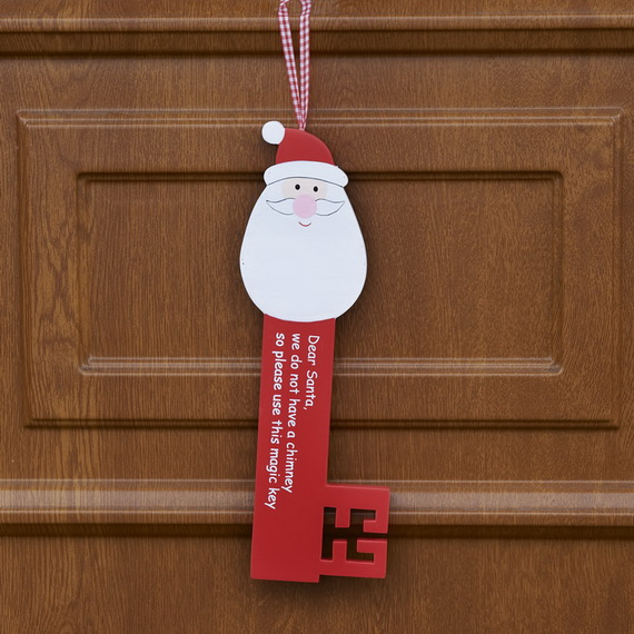homemade christmas door hanger decoration ideas family