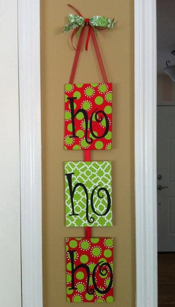 christmas door hanger decoration ideas and designs based on christmas ...