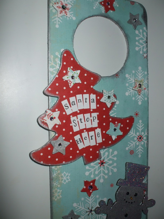 Homemade Christmas Door Hanger Decoration Ideas Family Holiday Net